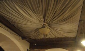 Тканевая отделка потолка