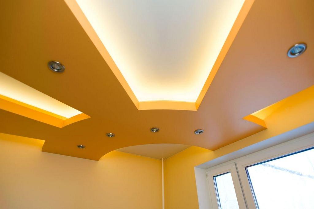 цены на двухуровневые потолки из гипсокартона
